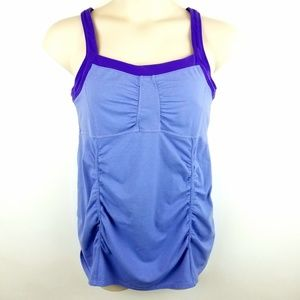 Athleta Purple Sinch Workout Tank Top  Size XL Pi